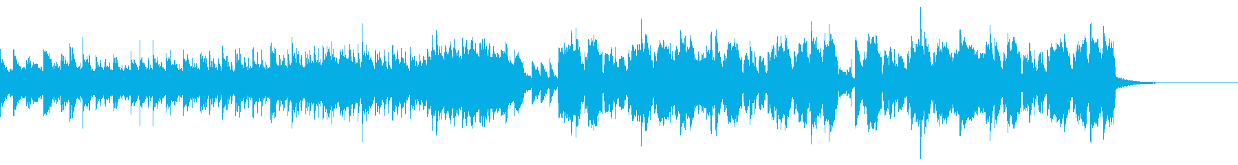 少し感動的な変則ビートの再生済みの波形