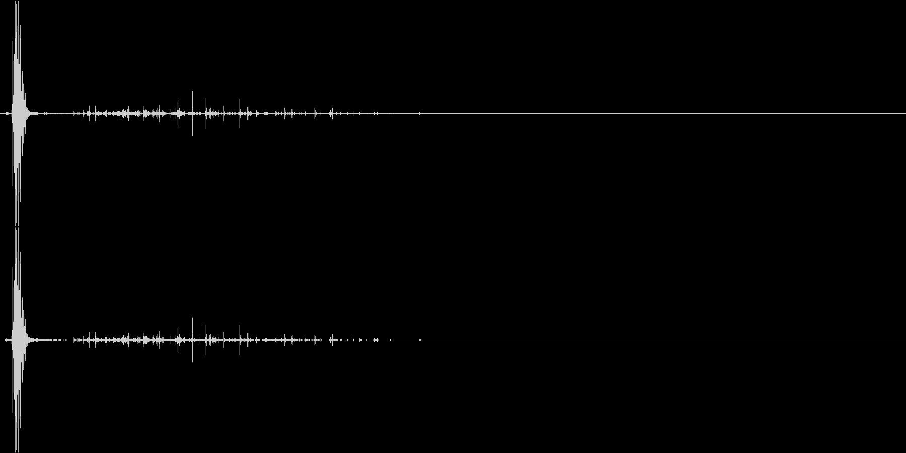 ネバネバしたものを潰す音1の未再生の波形