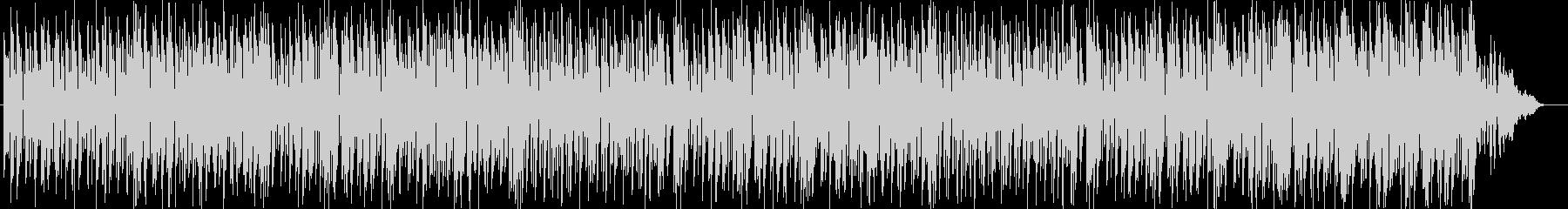 タイトなドラムとコミカルな音とのコラボの未再生の波形