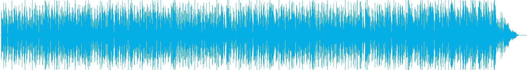 タイトなドラムとコミカルな音とのコラボの再生済みの波形