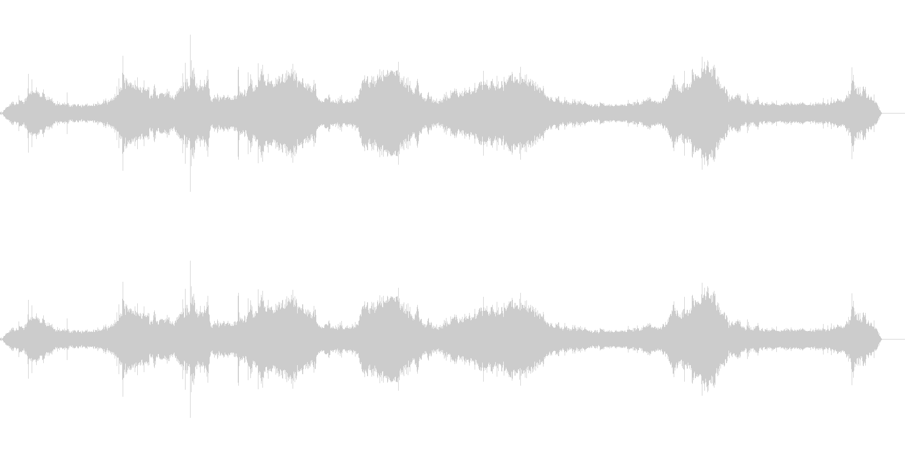 波-大-岩についての未再生の波形