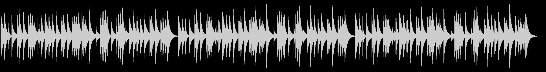 冬景色 18弁オルゴールの未再生の波形