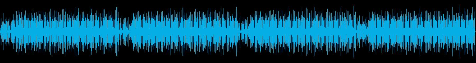 音声を邪魔しないエモいトークBGMの再生済みの波形