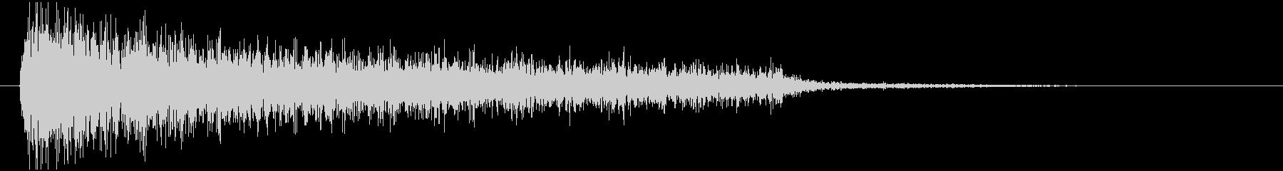 ガーン (ショック、恐怖、絶望時の音)の未再生の波形