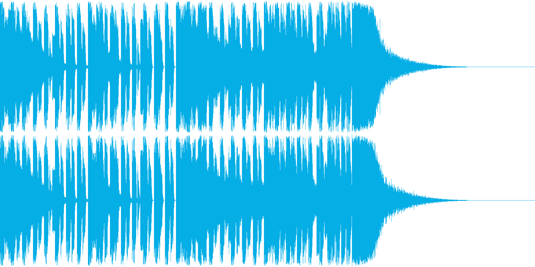 【EDM風】攻撃的なイケイケサウンドの再生済みの波形