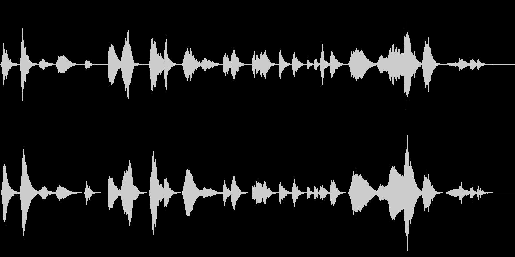 劇伴 前衛音楽風ホラーアンビエントの未再生の波形