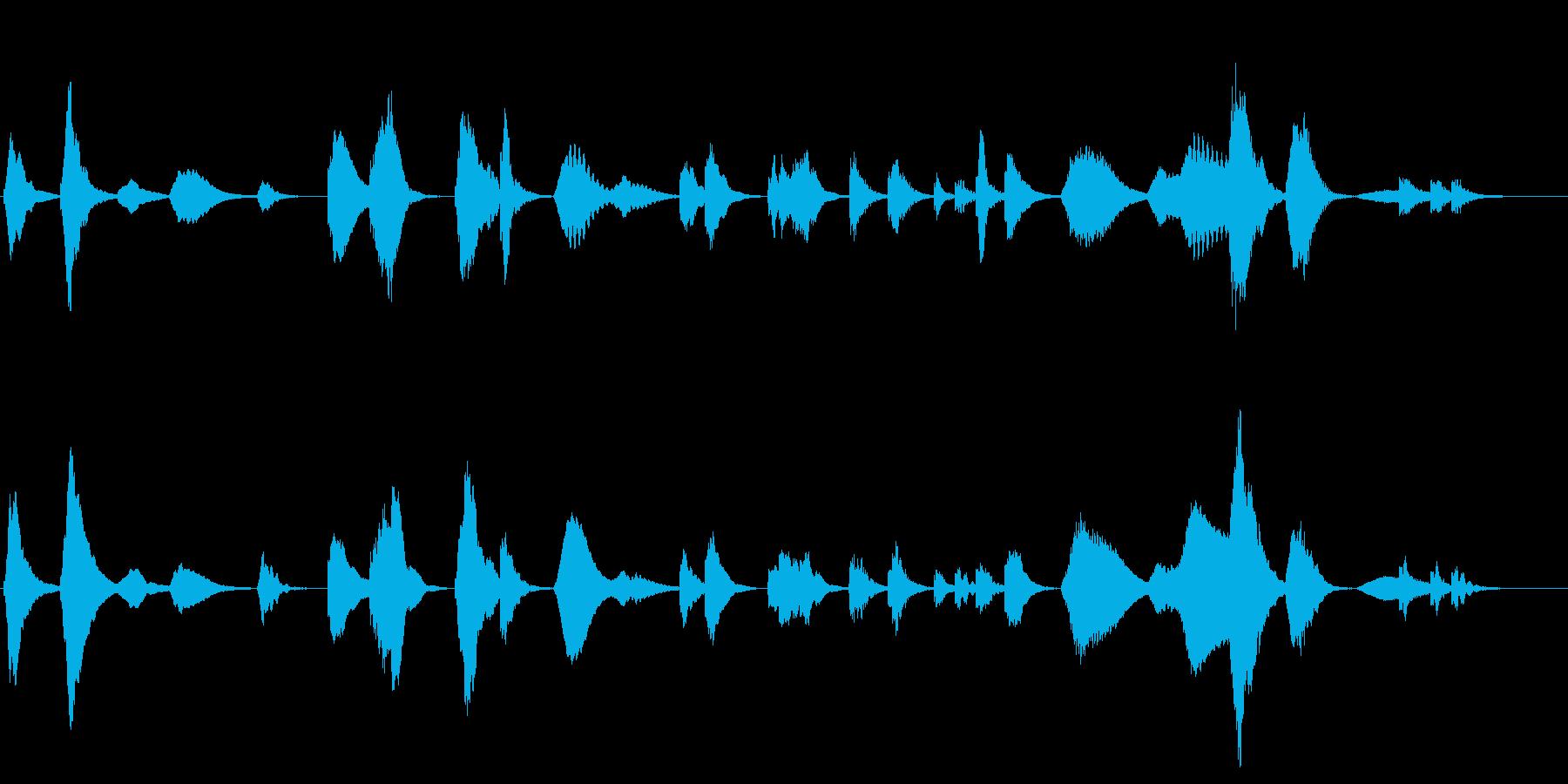 劇伴 前衛音楽風ホラーアンビエントの再生済みの波形