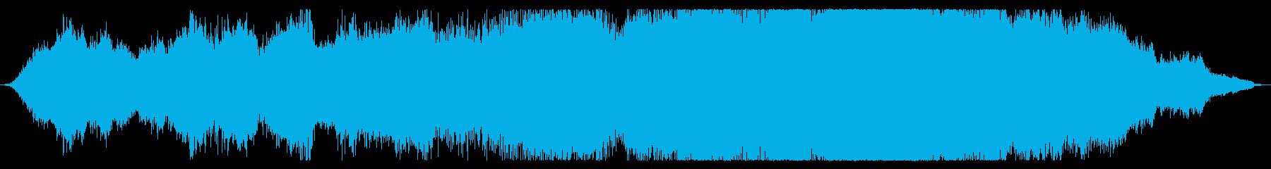 恐怖感のあるホラーBGMの再生済みの波形