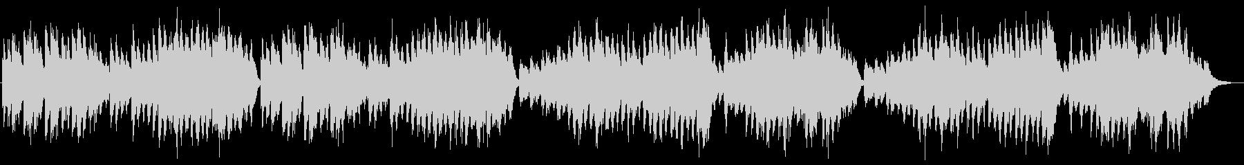 軍隊や戦いをイメージさせるピアノ曲の未再生の波形