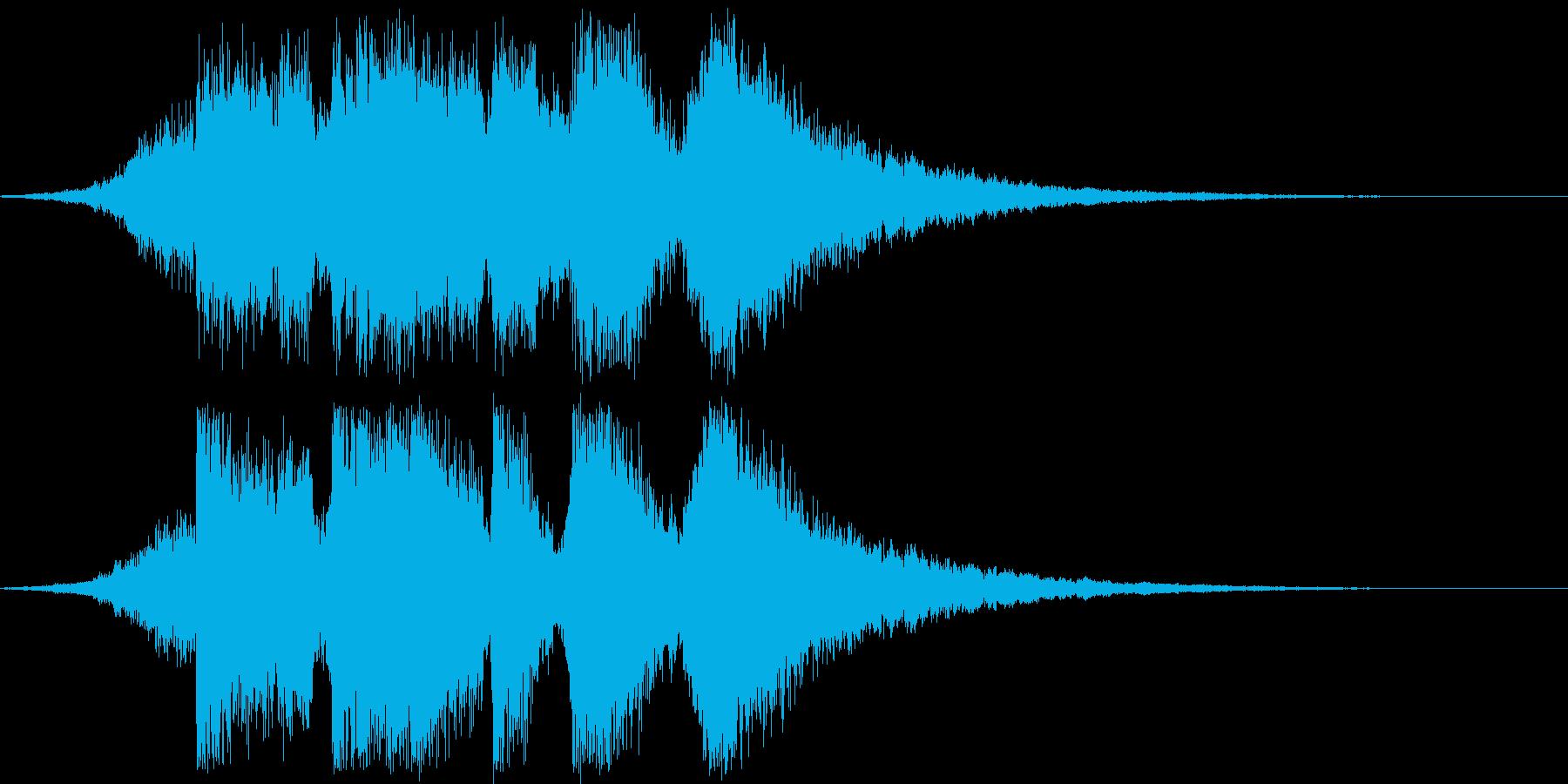 ジングル_ステージクリアの再生済みの波形
