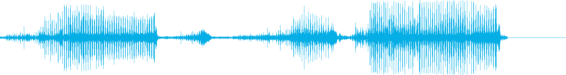 唾液、平均的な響きと奇妙な喉のうなりの再生済みの波形