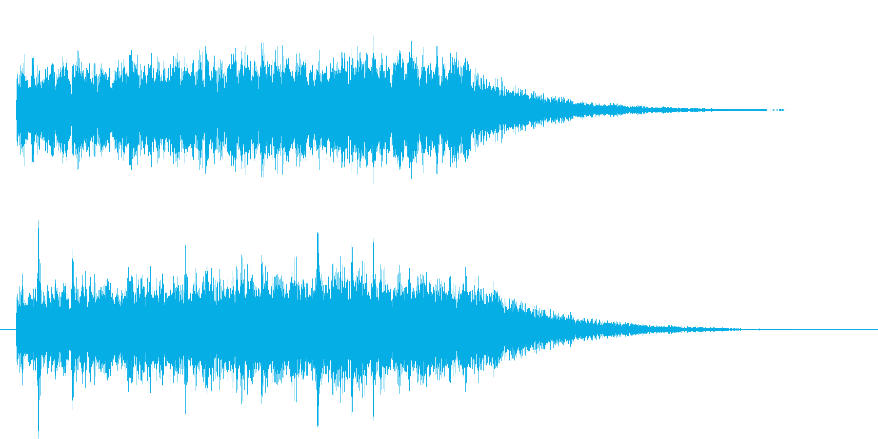 機械的なジングル#01の再生済みの波形
