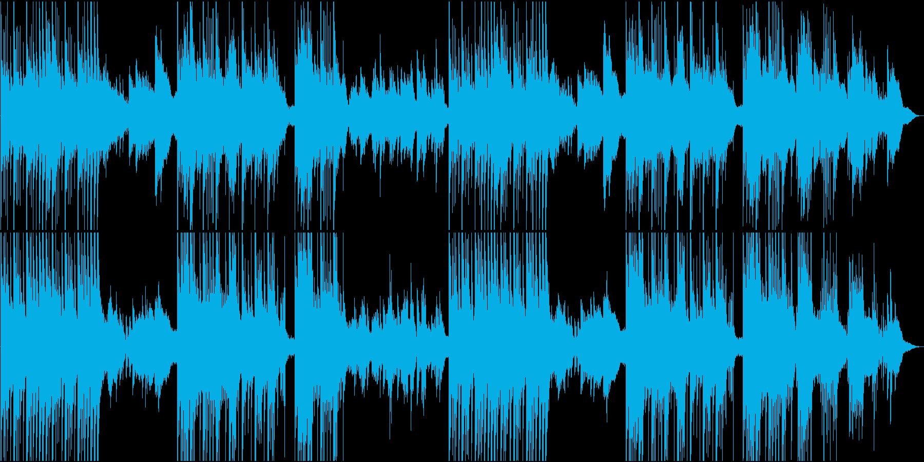 リラックスする静かな和風楽曲の再生済みの波形