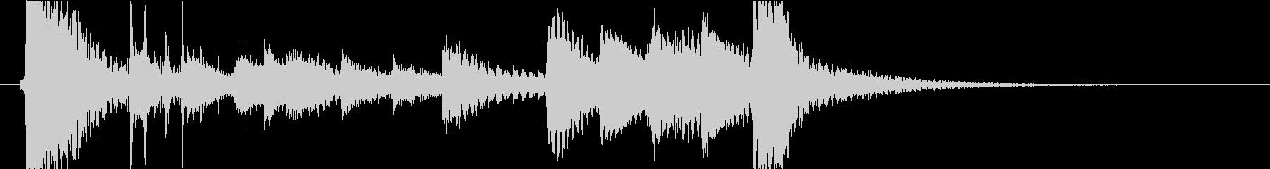 琴と鼓とカエルの和風でポップなジングルの未再生の波形