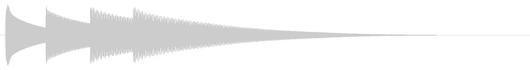 チャイム アナウンス09-7(4点 遅いの未再生の波形
