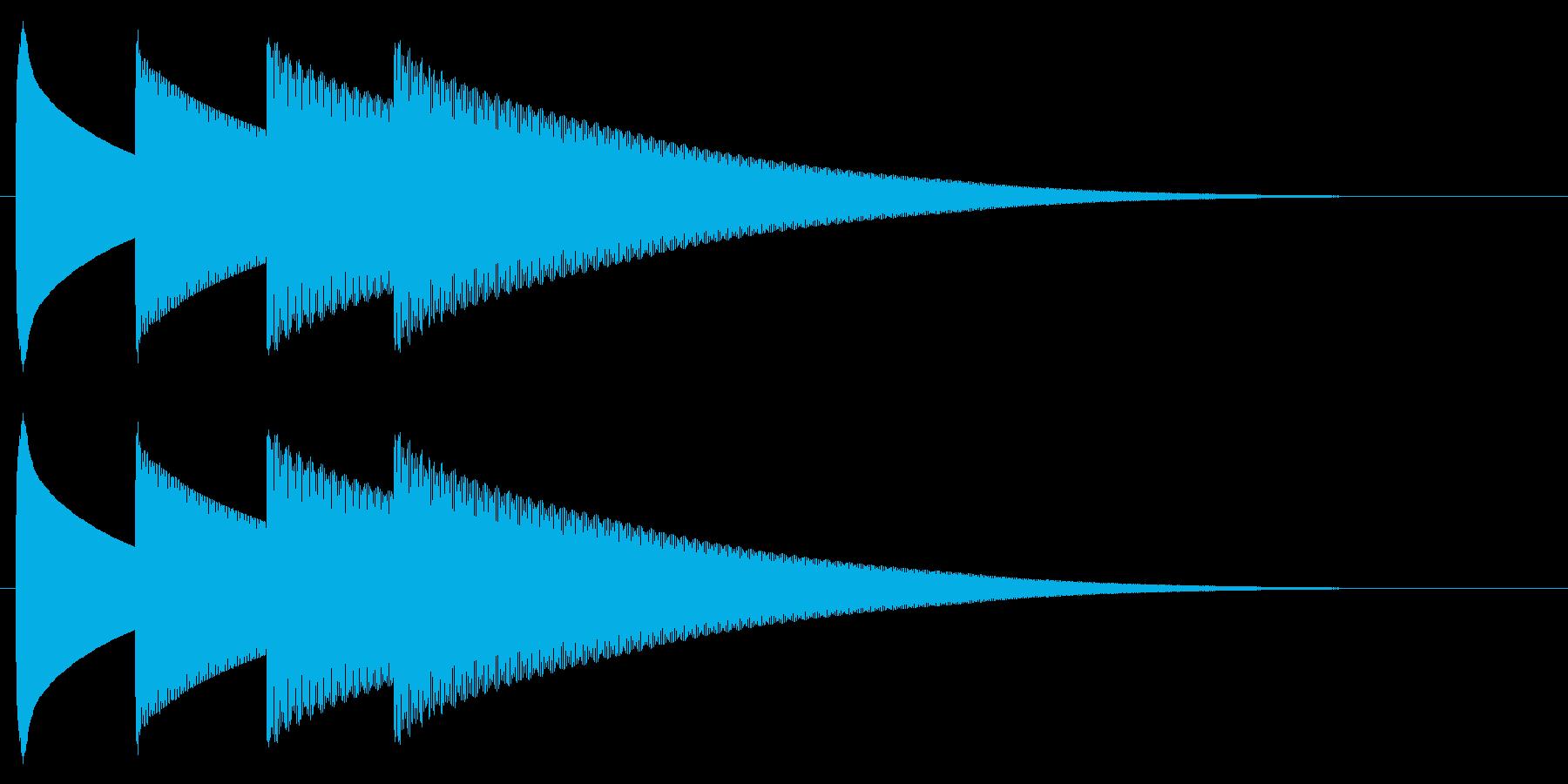 チャイム アナウンス09-7(4点 遅いの再生済みの波形