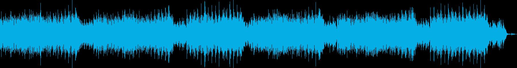 華やかでなめらかなメロディーの再生済みの波形