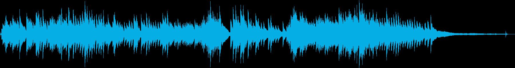 切ないピアノの再生済みの波形