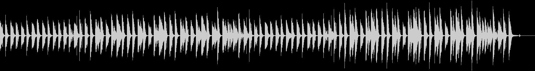 ゆるいピアノのほのぼのBGMの未再生の波形