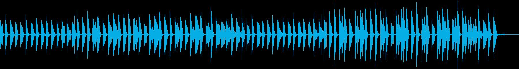 ゆるいピアノのほのぼのBGMの再生済みの波形