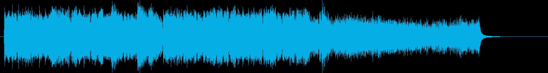 アイルランド民族楽器のケルト音楽バラードの再生済みの波形