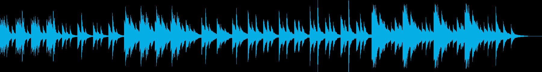 心霊・オカルト・怪談・ホラー・ピアノ曲の再生済みの波形
