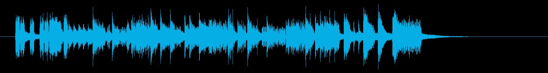 可憐で軽快なポップピアノジングルの再生済みの波形