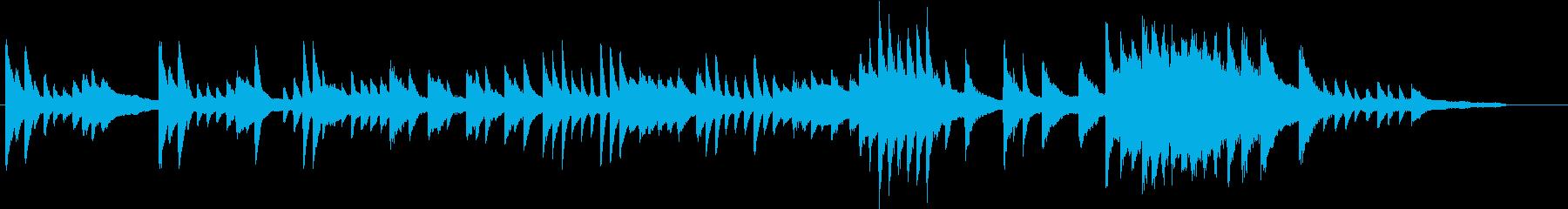 ゴッホの名画をイメージしたピアノジングルの再生済みの波形