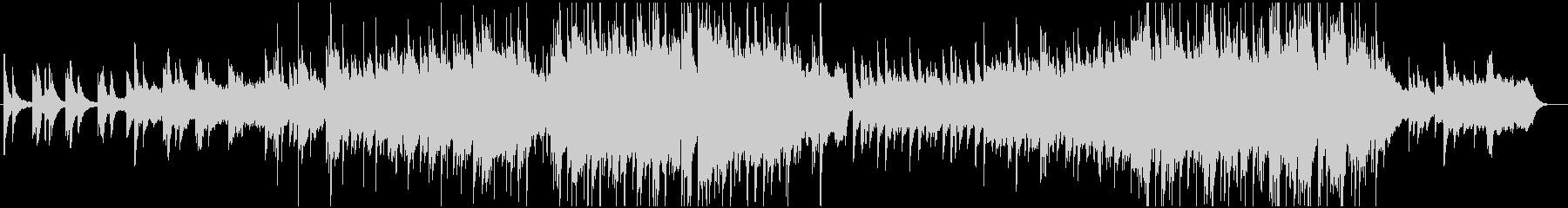 ピアノと弦楽器の感動バラードの未再生の波形