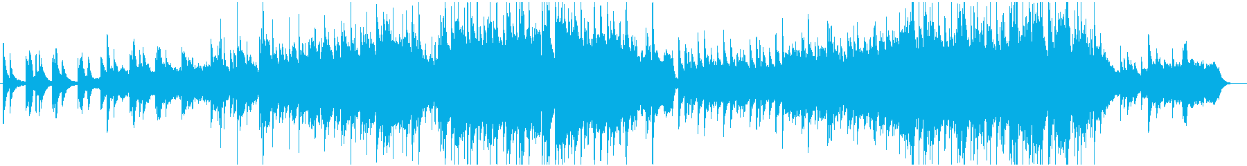 ピアノと弦楽器の感動バラードの再生済みの波形