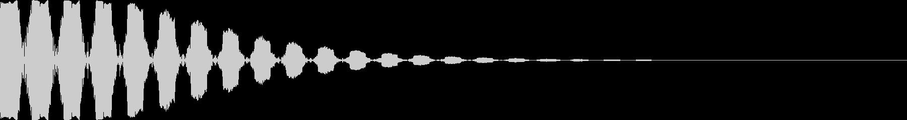 [ブッ]カーソル/設定/選択/移動/決定の未再生の波形