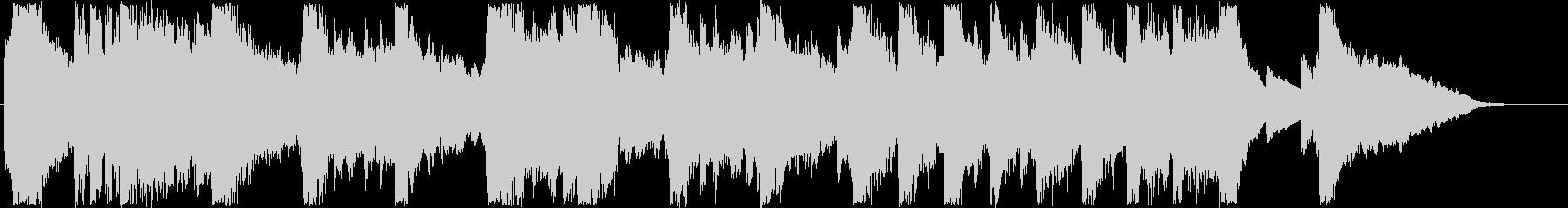 ふんわりした変則気味のオルゴール音の未再生の波形