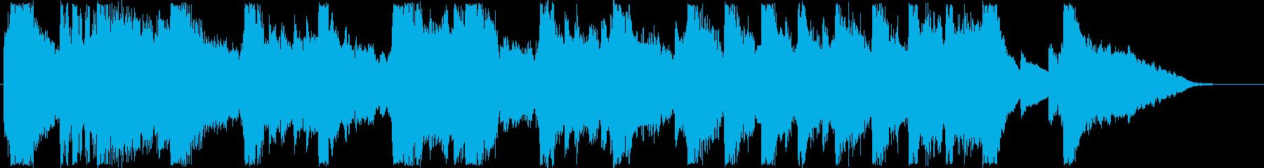 ふんわりした変則気味のオルゴール音の再生済みの波形