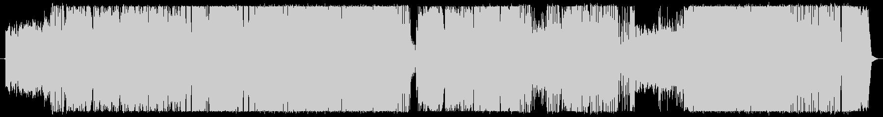 尺八がメインの和テイストのロックBGMの未再生の波形