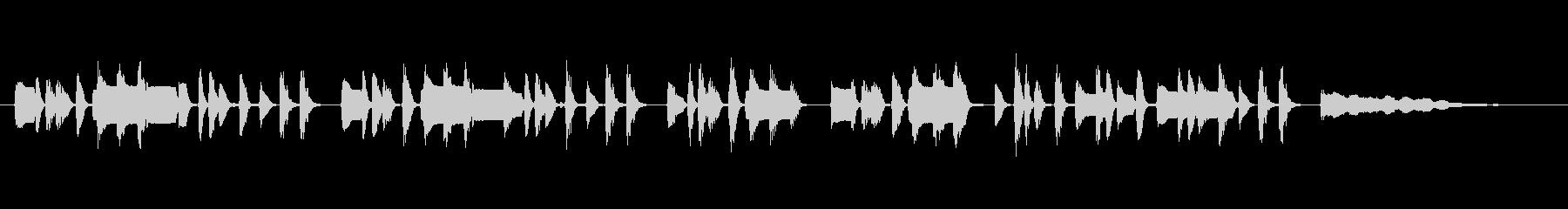 クラリネットの可愛いくコミカルなジングルの未再生の波形