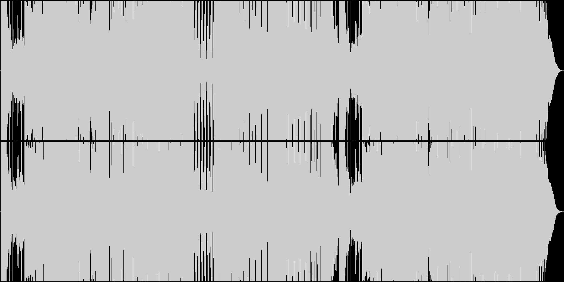 ゲーム用荒々しいFuture Bassの未再生の波形