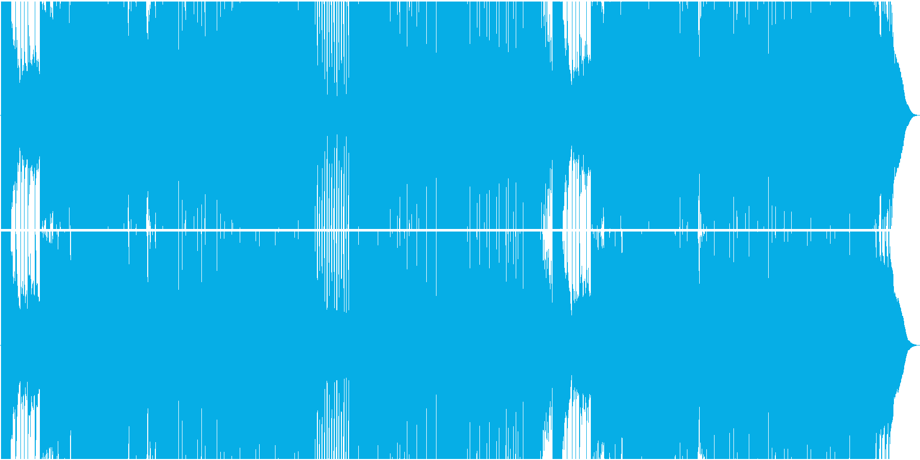 ゲーム用荒々しいFuture Bassの再生済みの波形