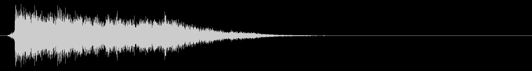 コミカルなダッシュ!ジャンプの効果音02の未再生の波形