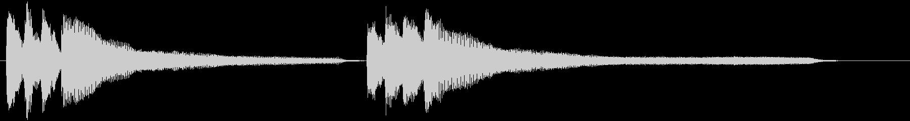 ジャジャジャジャーン♪(運命pf版)の未再生の波形