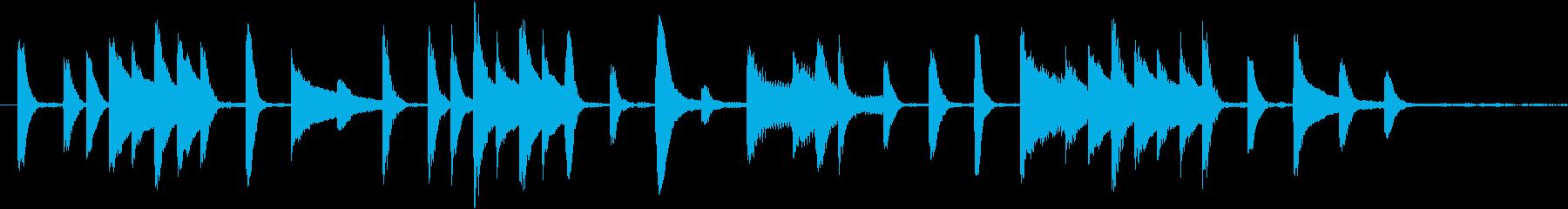 可愛らしいピアノのジングルの再生済みの波形