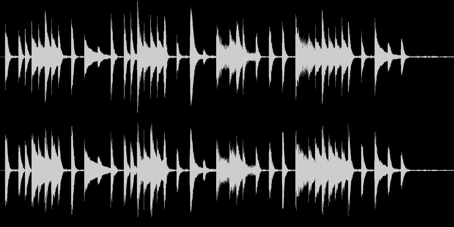 可愛らしいピアノのジングルの未再生の波形