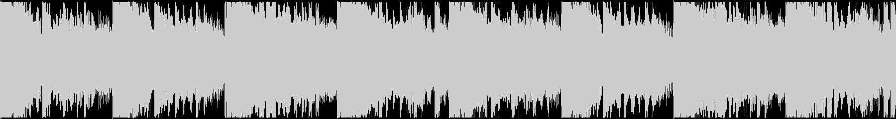 無機質なエレクトロニカBGM(ループ)の未再生の波形