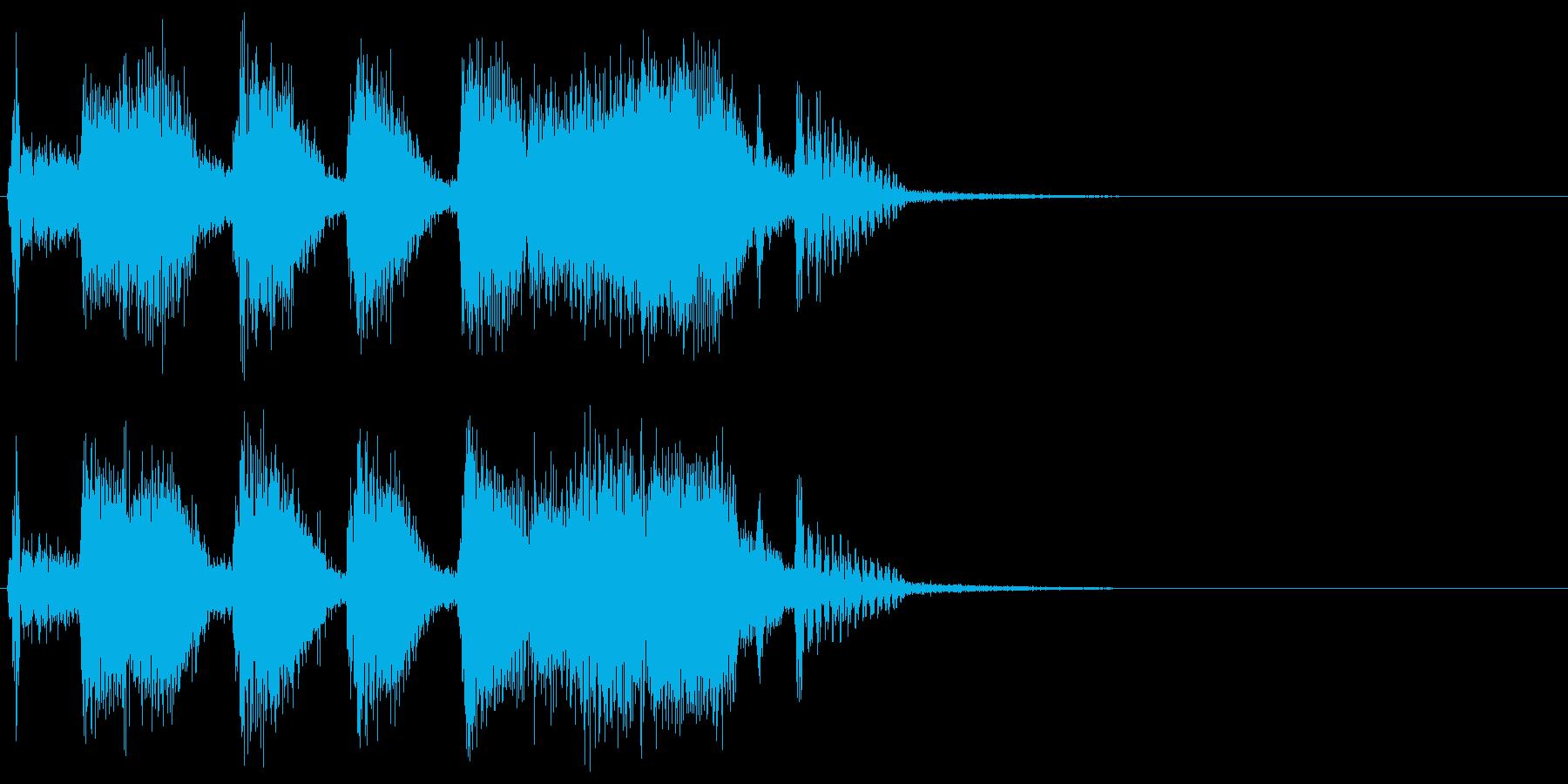 ハッピーパーティーな大編成ジャズジングルの再生済みの波形