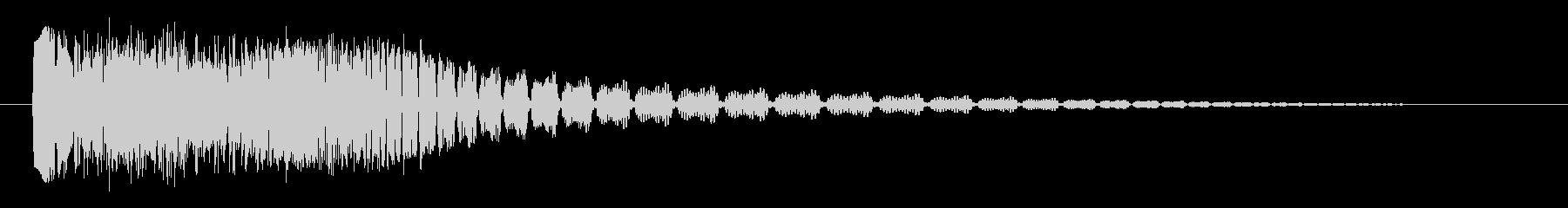 ボタン音(アプリ向け)の未再生の波形