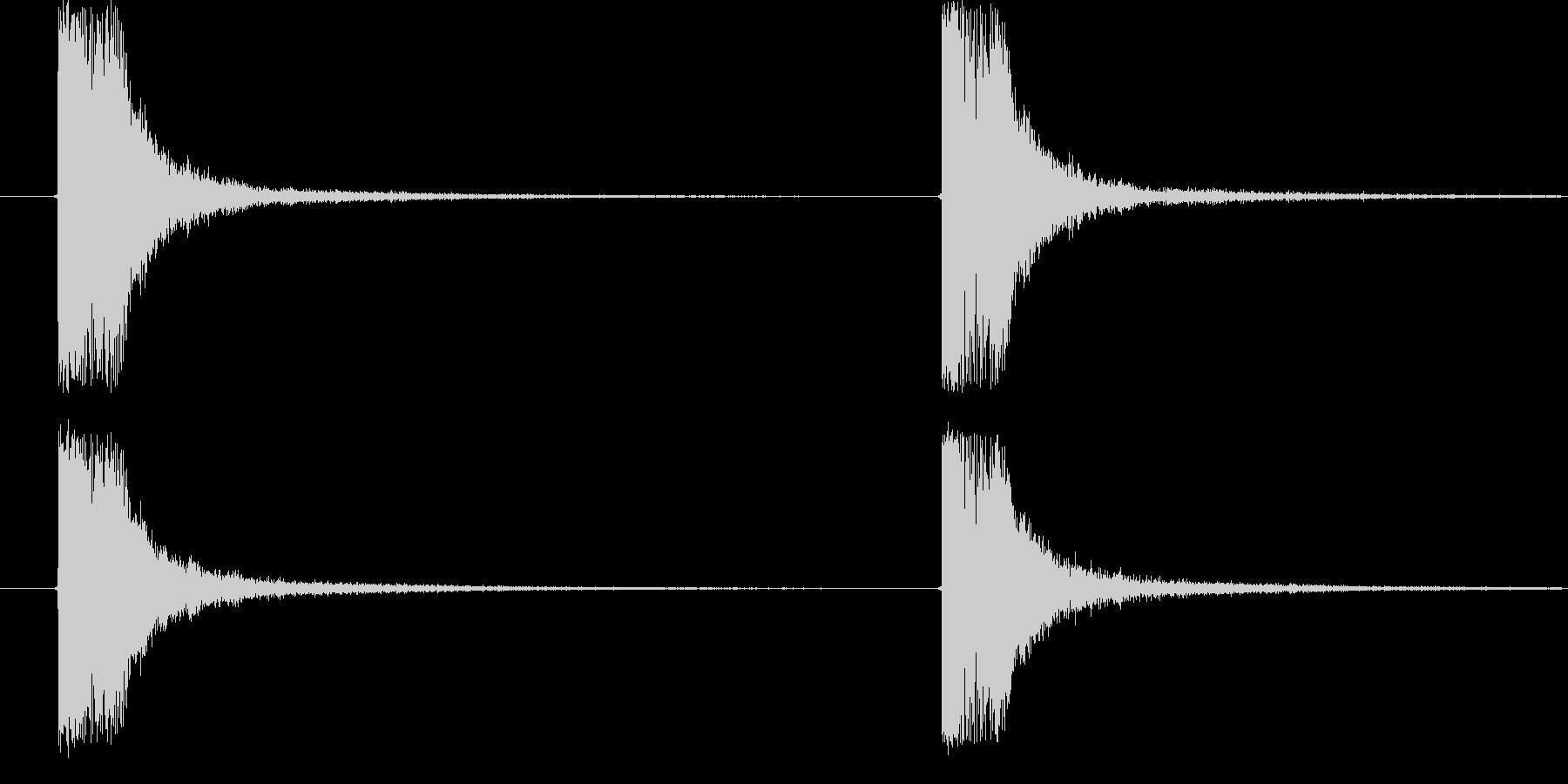 ドキューン (電子銃を撃つ音)の未再生の波形