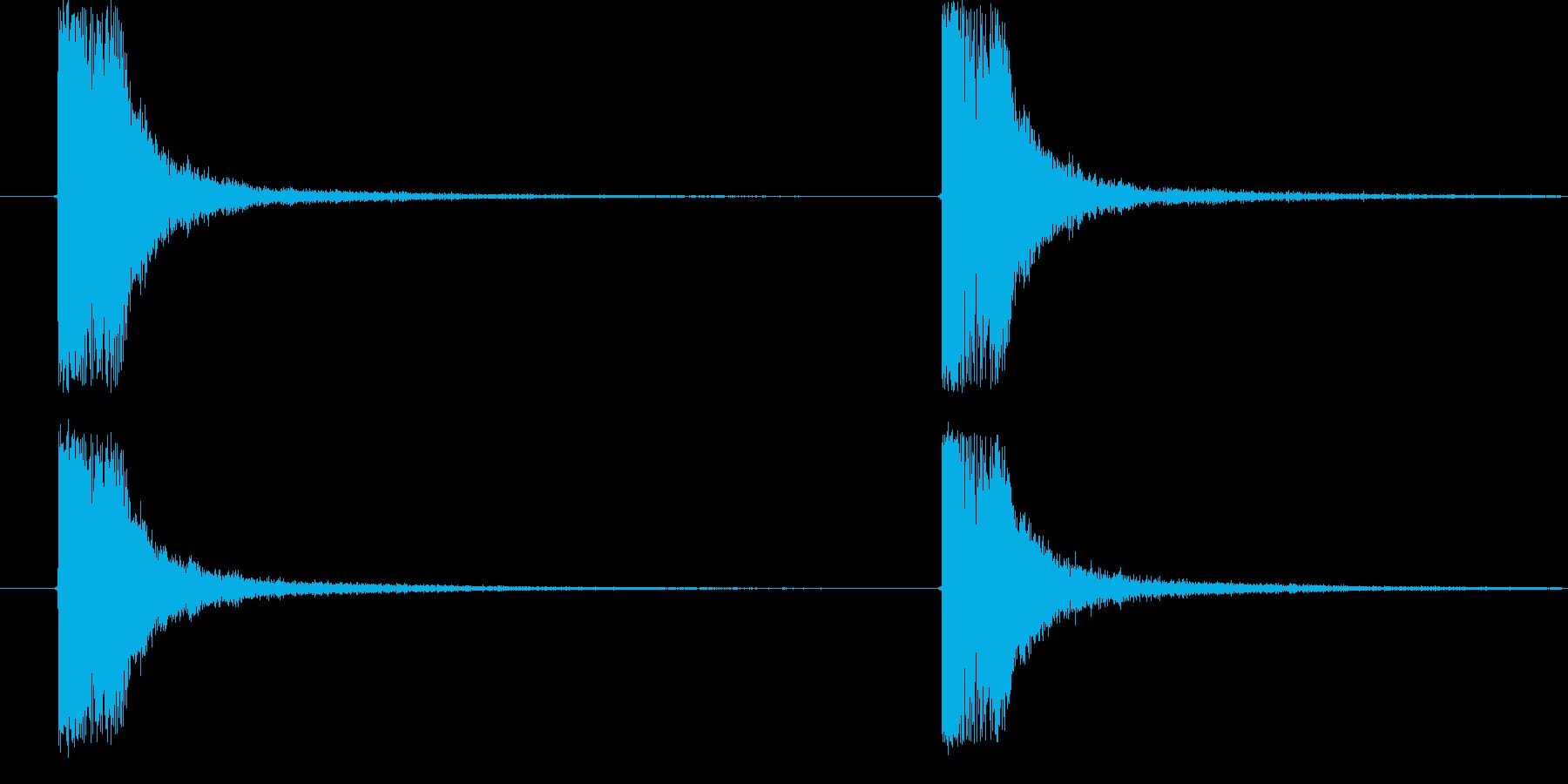 ドキューン (電子銃を撃つ音)の再生済みの波形