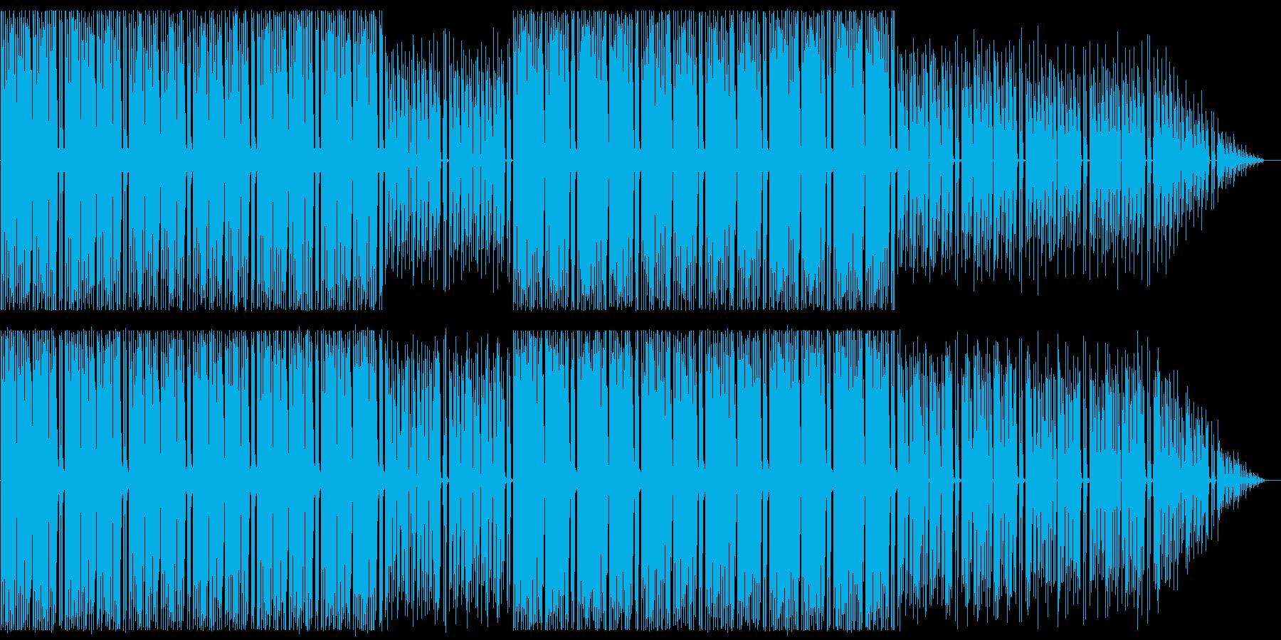 心がホップする軽快な音楽の再生済みの波形