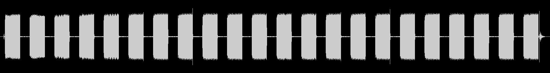 デジタル時計ラジオアラームビープ音...の未再生の波形
