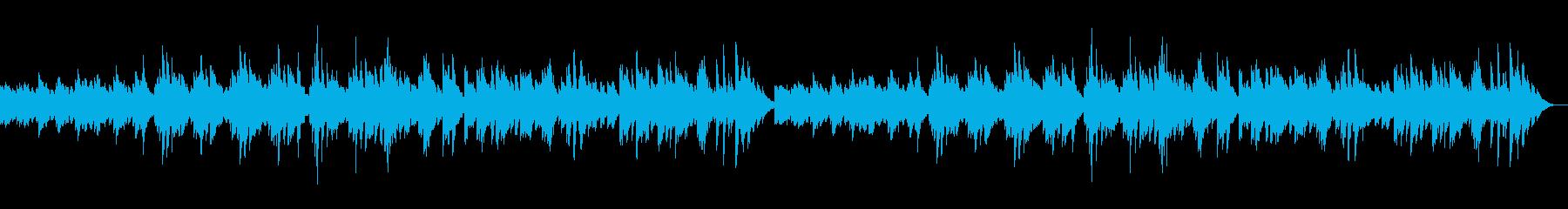 透明で幻想的なピアノのリラクゼーション曲の再生済みの波形
