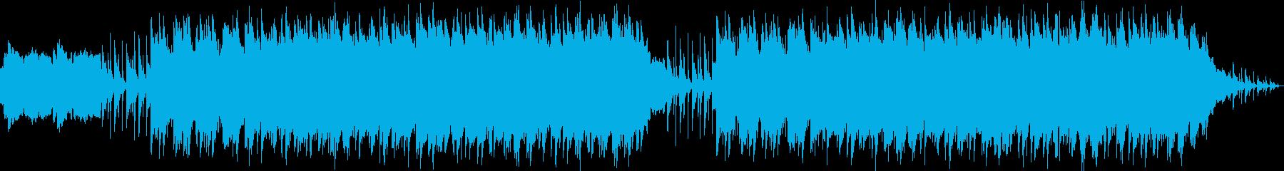 ファンタジーRPGの廃墟をイメージした曲の再生済みの波形